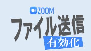 【Zoom】ファイルが送れないときの対処法